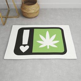 marijuana universal symbol of love Rug