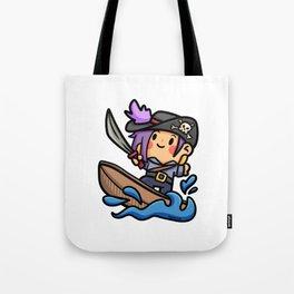 surfing pirate fun skull Comic Kids Gift Tote Bag