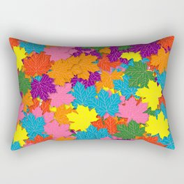 Colorful maple leaves pattern Rectangular Pillow
