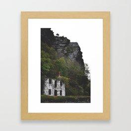 Home Off the Cliff Framed Art Print
