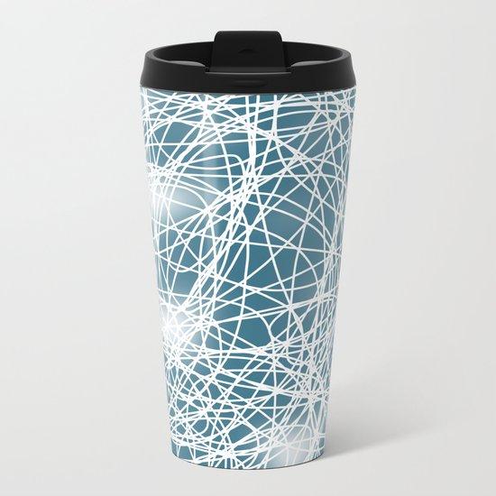 Abstract 360 Metal Travel Mug