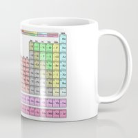 periodic table Mugs featuring Periodic Table Of  The Elements by GrafXthings