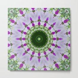 Purple Wildflower Kaleidoscope Art 3 Metal Print