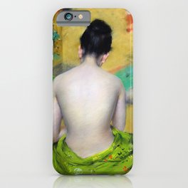 William Merritt Chase - Back Of A Nude - Digital Remastered Edition iPhone Case