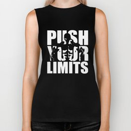Mens Bodybuilding Push Your Limits gym training workout birthday gift horse Biker Tank