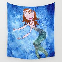 the redhead mermaid Wall Tapestry