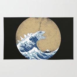 Hokusai Kaiju Rug