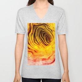 Sunset Spiral Warped Unisex V-Neck