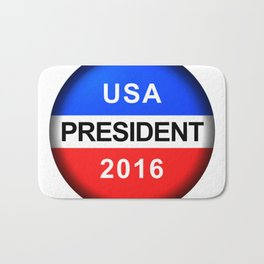 Vote Button President Bath Mat