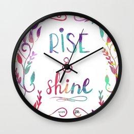 Rise & Shine Wall Clock
