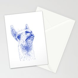 A lama that likes some drama Stationery Cards