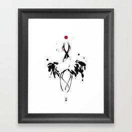 transcenDance // (crane) Framed Art Print