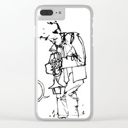 the trumpeter Clear iPhone Case