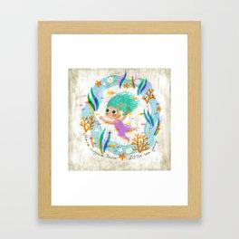 Little Sea Fairy Framed Art Print