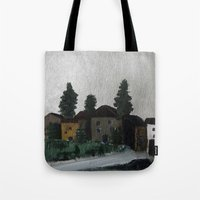 hamlet Tote Bags featuring the hamlet by Maria Julia Bastias