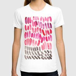Pretty Pink Pastel Purple Watercolor Colorful Organic Pattern Mid Century Modern Art T-shirt