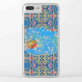 Portrait of a Mediterranean Frog Prince Clear iPhone Case