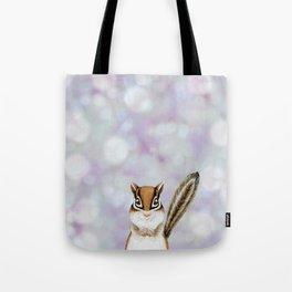 chipmunk woodland animal portrait Tote Bag