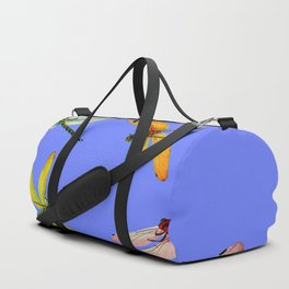 COLORFUL DRAGONFLIES IN BLUE SKY  DESIGN Duffle Bag
