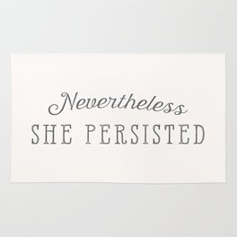 Nevertheless, She Persisted Rug