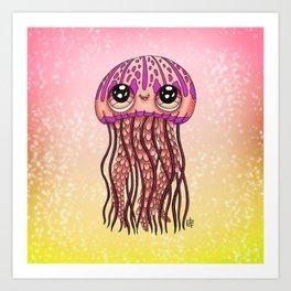 Happy Jellyfish  Art Print