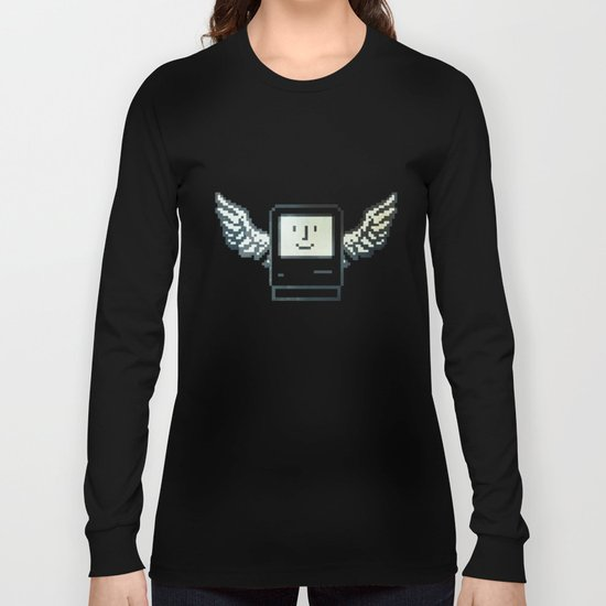 pixel mac with wings Long Sleeve T-shirt