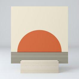 Sunrise / Sunset I - Orange & Black Mini Art Print