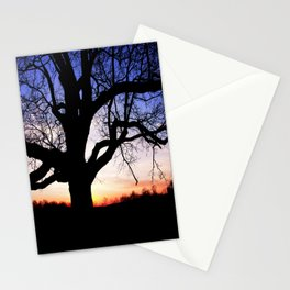 Darkness Against Sunset Stationery Cards