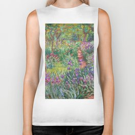 The Iris Garden at Giverny by Claude Monet Biker Tank
