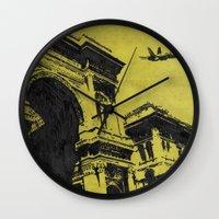 milan Wall Clocks featuring Milan 3 by Anand Brai