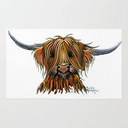 Scottish Highland Cow ' HARLEY ' by Shirley MacArthur Rug