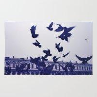 italian Area & Throw Rugs featuring Italian Birds.  by AntonettaG