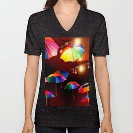 The Rainbow Party Lights Unisex V-Neck