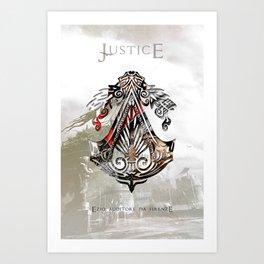 Ezio Auditore Da Firenze - Justice Art Print