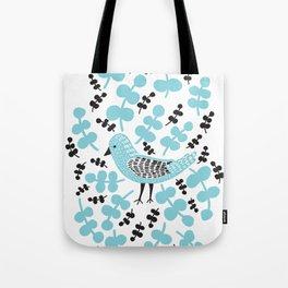 Birdie Bird Blue Tote Bag
