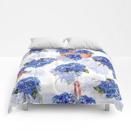 Cape Cod Hydrangeas and Baskets Comforters