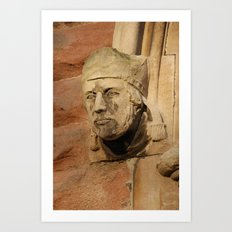 Face on the wall Art Print