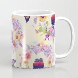 seamless  nature pattern with flowers,birds and butterflies Coffee Mug