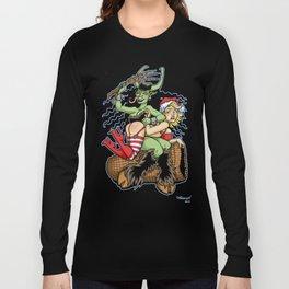 Krampus Spanking Long Sleeve T-shirt