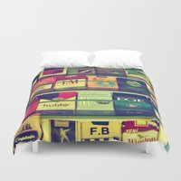 cigarette Duvet Covers featuring cigarette collection by gzm_guvenc