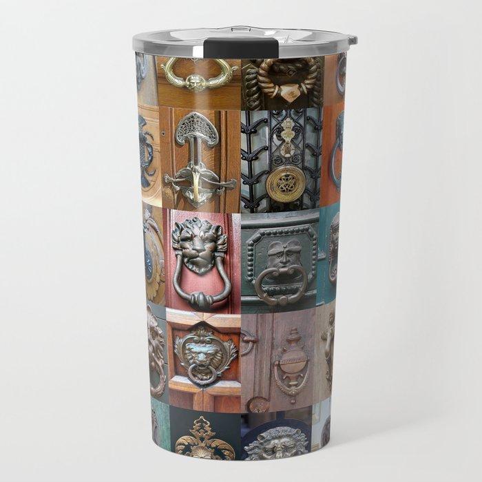 Door Knockers Montage Travel Mug