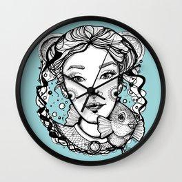 Ciro and Coralbabe Blue Wall Clock