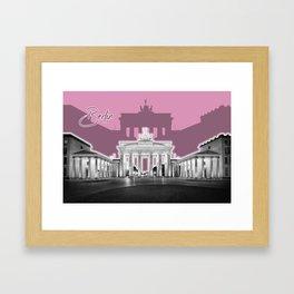 BERLIN Brandenburg Gate | Graphic Art | ink Framed Art Print