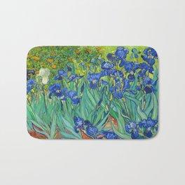 Vincent Van Gogh Irises Painting Bath Mat