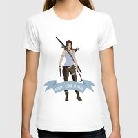 lara croft T-shirts featuring Fight Like a Girl: Lara Croft by Dorothy Leigh
