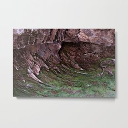 Sandstone Moss-Arcs Metal Print