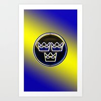 sweden Art Prints featuring Sweden! by Daniel Ström
