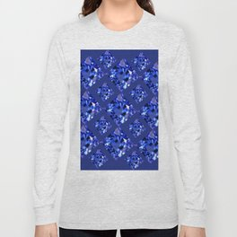 FACETED BLUE ON BLUE SAPPHIRE GEMSTONES Long Sleeve T-shirt
