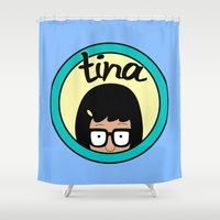 tina crespo Shower Curtains featuring Tina by Page394