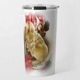 Souris de Noël (Christmas Mouse) Travel Mug